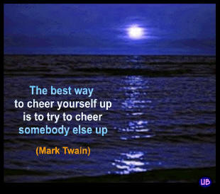Mark Twain quote and blue sea
